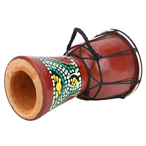 Tambor de mano africano, tambor de mano de práctica, color madera, nogal, funcional, duradero, respetuoso con el medio ambiente para niños, ejercicios, entusiastas de la música, adultos