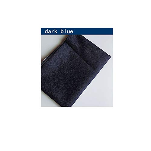Denim stoffen zilver en goud gewassen denim jasje overhemd broek denim tassen schoenen(160cm x 100cm) (Color : Dark blue)