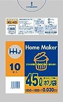 【お買得】HHJ 増量ポリ袋 45L 透明 0.030mm 600枚 10枚×60冊入 KL43