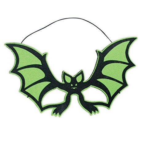 Mask Halloween, blandade motiv, halloween, party, karnevalval. Show, temafest (fladdermus)