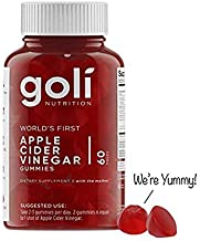 Goli Nutrition World's First Apple Cider Vinegar Gummy Vitamins, 1 Pack - (60 Count, Organic, Vegan, Gluten-free, Non-Gmo, With