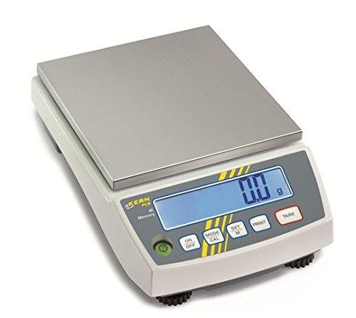 Kern Präzisionswaage PCB 6000-1 Wägebereich: 6,0 kg, Ablesbarkeit: 0,1 g mit Pre-Tare Funktion, frei-programmierbare Wägeeinheit Größe Gesamtwaage (B x H x T): 163 x 245 x 79 mm