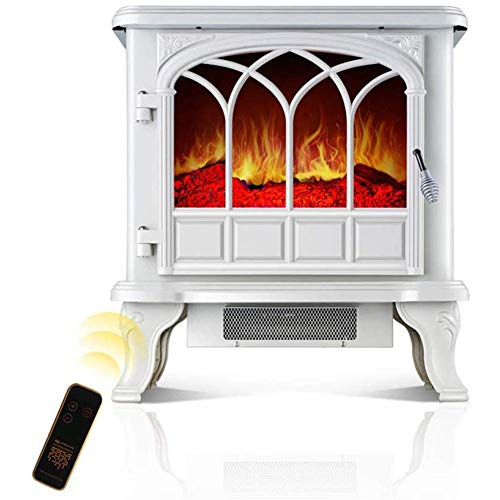 Nfudishpu Electric stove fireplace heating 2000W adjustable 2 setting fireplace heating stove internal heating with 3D wood stove flame effect For indoor and outdoor