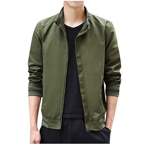MAYOGO Herren Harrington Jacke Business Softshelljacke Übergangsjacke Sweatjacke Outdoorjacke (Armeegrün, M)
