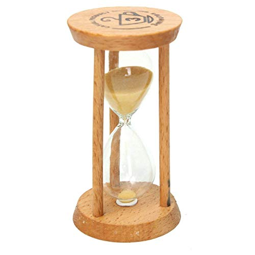 GracesDawn 3 minutes wooden hourglass yellow minimalist modern home furnishing