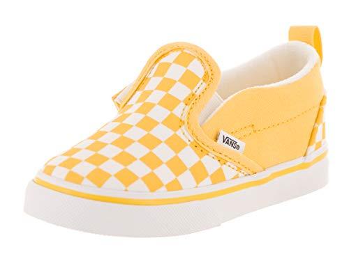 Vans Toddlers Slip-On V (Checkerboard) Checkerboard/Aspen Gold Skate Shoe 9 Infants US