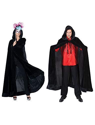 Venezianischer Umhang mit Kapuze Weiß – Schön zu Venedig, Maskenball und Mittelalter Kostüme - 3
