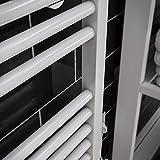 Der Renovierungsprofi Handtuchwärmer Toskana, elektrisch mit Heizstab, 70 x 40 cm, alpin-weiß, Heizpatrone mit Spiral-Kabel und Schuko-Stecker, Handtuchhalter-Funktion - 5
