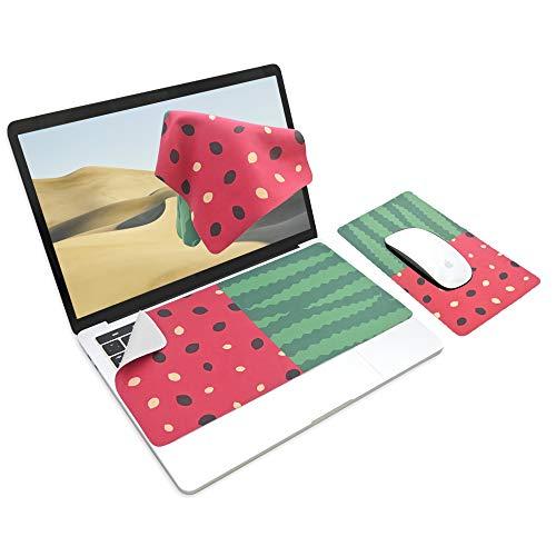 SenseAGE x Ekax Alfombrilla de ratón 3 en 1, Alfombrilla de ratón Multifuncional para portátil, Alfombrilla de Teclado Lavable, Protección y Limpieza del Monitor, Sandía