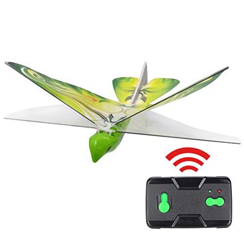 BakaKa Elektronische Fernbedienung Drohne Insekt Fliegender Vogel RC Spielzeug Simulation Leuchtendes Vogelspielzeug für Kinder