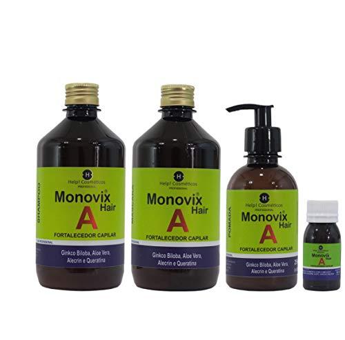 Kit Monovix A Crescimento Capilar(Kit 4 Itens) completo