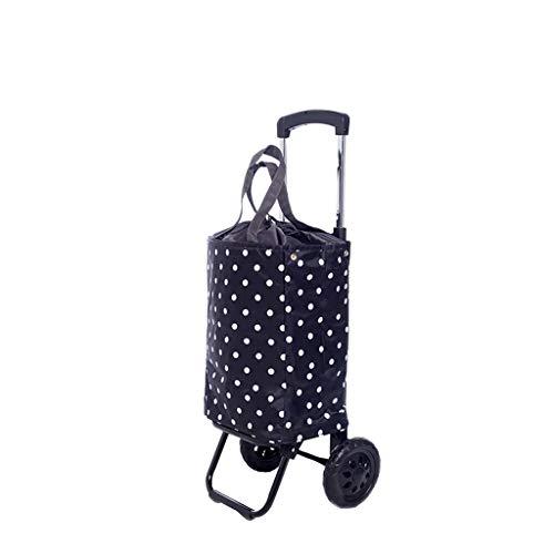 YCZM Faltbare Mute Rad Shopping Trolley-Speicher-Beutel kann alleine wasserdichte verwendet & Durable,A