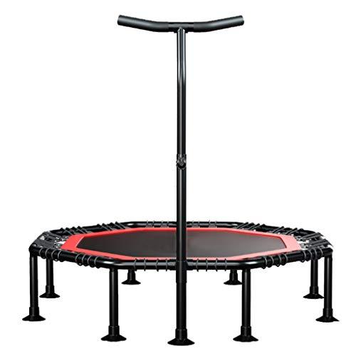 Indoor Fitness Trampoline - Met handvat - Mini Trampoline - Springdoek Diameter: 82cm - Maximaal gewicht tot 200 Kg