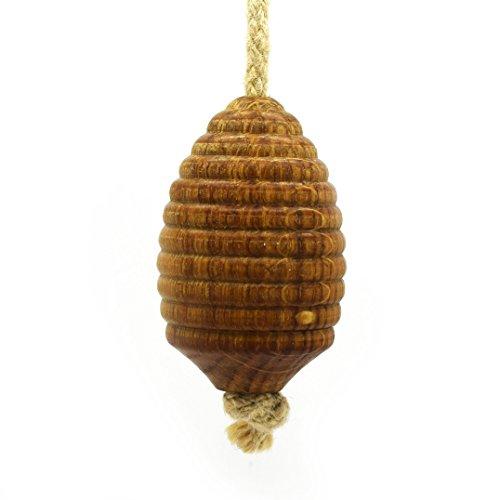 Pushka Home Bijenstok, lamp, met jute touw, 100% van hout, met eik, afzonderlijk, wordt met een bijenstok-vorm, diameter 40 mm, lengte: 20 mm