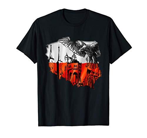 Polnische Tshirt Polen für Poland Polska Polin Adler Krakau T-Shirt