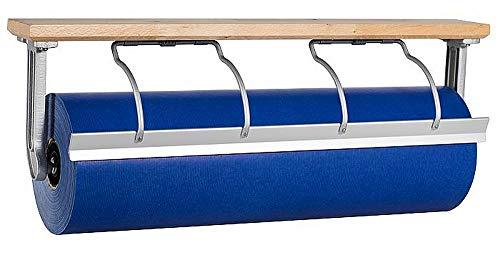 Papierabroller z. Untertischbefest, Holz, Papierabreißer, Retro, Papierabreißer, Größe:50 cm