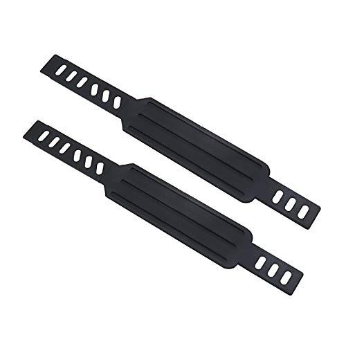 1 x par de correas de pedal estacionarias para bicicleta de 0,55 pulgadas x 0,24 pulgadas, ajustables para gimnasia doméstica, color negro