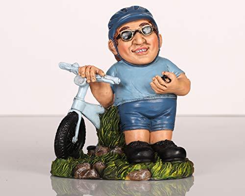 Topshop24you Wunderschöne Spardose,Sparbüchse,Sparschwein Fahhrad,Fahrradfahrer aus Polyresin,ca. 18 cm groß