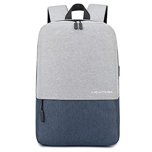 School Backpack, Travel Laptop Backpack for Men Women Bookbag for Boy Girl-Grey