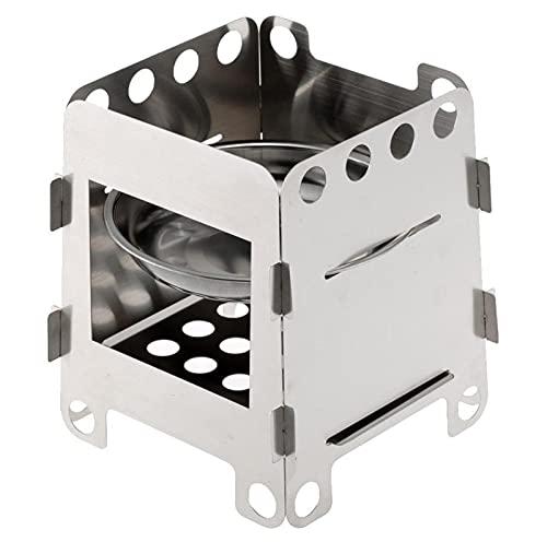 Titanio estufa que acampa plegable de acero inoxidable estufa de madera estufa de alcohol portátil de camping al aire libre de la comida campestre de Cook BARBACOA quemadores ( Color : 3 , Size : A )