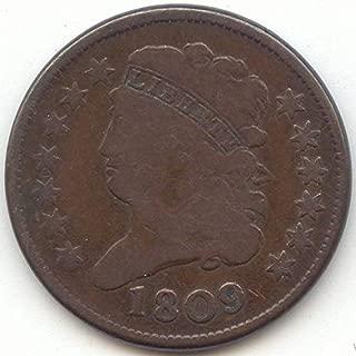 1809 Classic Head Half Cent Very Good