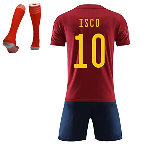 España Team Spanien Team Fußballtrikot, Ramos ISCO Moreno Saul Fußball-T-Shirt für Erwachsene Kinder, wiederverwendbares Westenset, Fußball-Trikot für den Europapokal 2020-10#-28