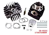 Complete Engine Cylinder Top End Kit with Piston Ring Gasket for Suzuki LT A50...