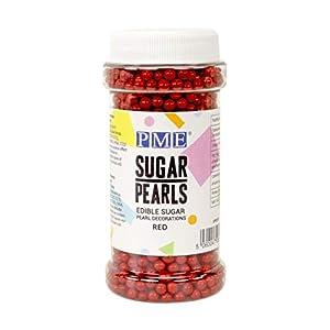 Perlas de Azúcar PME Rojas 100 g