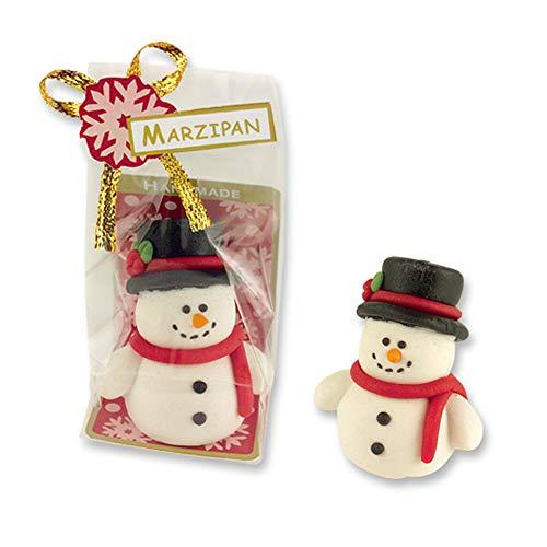 2 Schneemänner aus Marzipan, Marzipan Schneemann