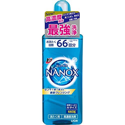 【大容量】トップ スーパーナノックス 蛍光剤・シリコーン無添加 高濃度 洗濯洗剤 液体 本体大ボトル 660g