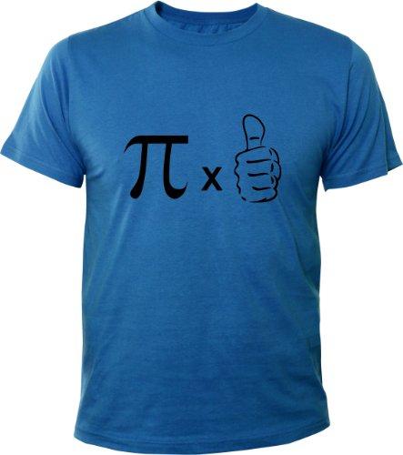 Mister Merchandise Cooles Herren T-Shirt Pi mal Daumen Mathe Nerd, Größe: L, Farbe: Royalblau