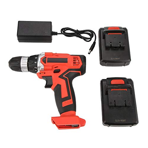 Electric Drill Driver Kit Power Drill Driver Kit, Electric Screwdriver Rechargeable 21V Lithium-Ion Compact Drill Driver, Handheld Professional Electric Screwdriver (220V)