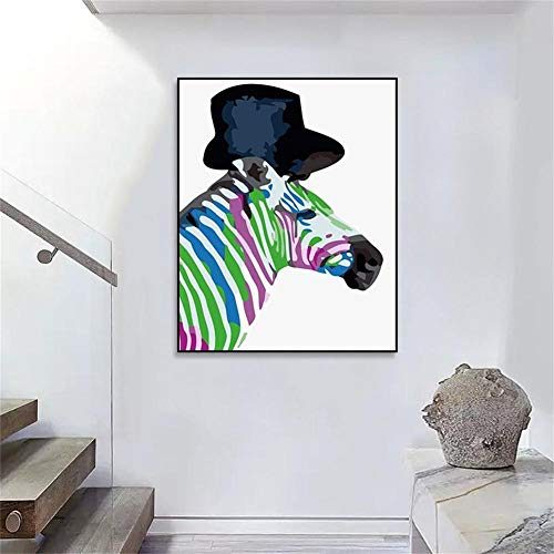 DIY Schilderen op nummer kinderen schilderen kitGentleman paard handgeschilderd frameloos schilderij 40x50CM