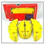 CHENJIAO Car Caliper Cover 4PCS 3D Car Universal Disc Brake Caliper Covers Front & Rear Accessories Kit 5 Colors ABS Plastic Size M+S (Color Name : Yellow)