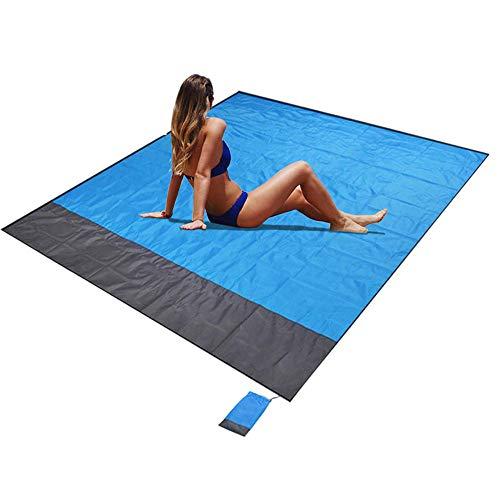 Kaiyingxin Manta de pícnic extra grande, impermeable, manta de playa, antiarena, portátil, plegable, para pícnic, playa, senderismo, camping, aparcamiento (210 x 200 cm)