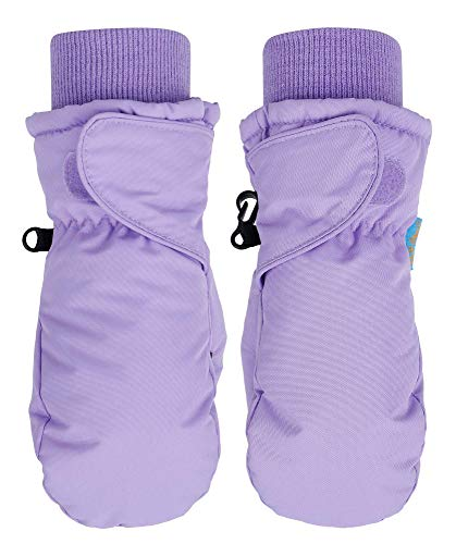 SimpliKids Children's Snow Sports Thinsulate Lined Waterproof Winter Mittens (Lavender,...