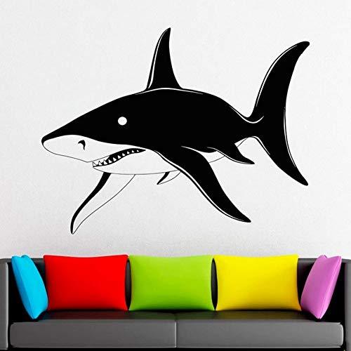 mlpnko Ozean Dekoration Wasser Fisch Hai Wandtattoo Fensteraufkleber Kinder Wohnzimmer Schlafzimmer Zimmer dekorative Wandbild58X45cm