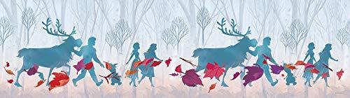 1art1 Die Eiskönigin - 2 ELSA Anna Olaf Kristoff Sven, Autumn Haze Bordüre Tapeten-Borte Selbstklebend 500 x 10 cm