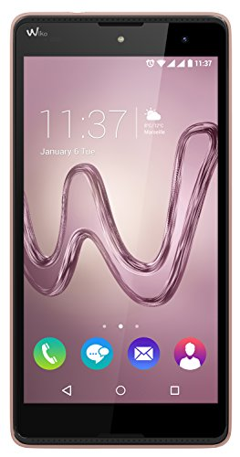 Wiko Robby Smartphone (13,9 cm (5,5 Zoll) Display, 16 GB interner Speicher und 1 GB RAM, Android 6 Marshmallow) rose gold