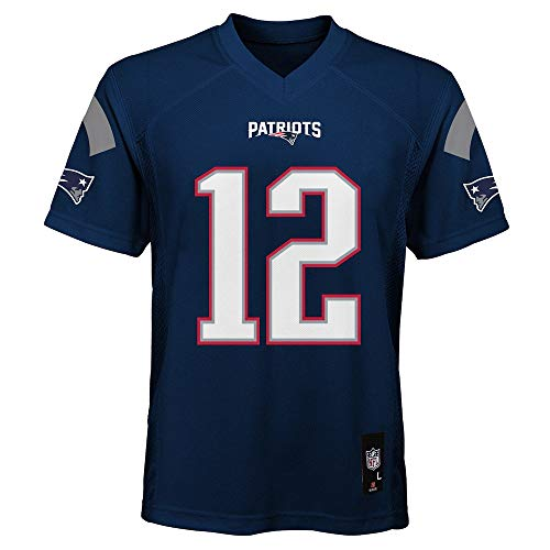 Tom Brady New England Patriots NFL Boys Youth 8-20 Navy Home Mid-Tier Jersey (Youth X-Large 18-20)