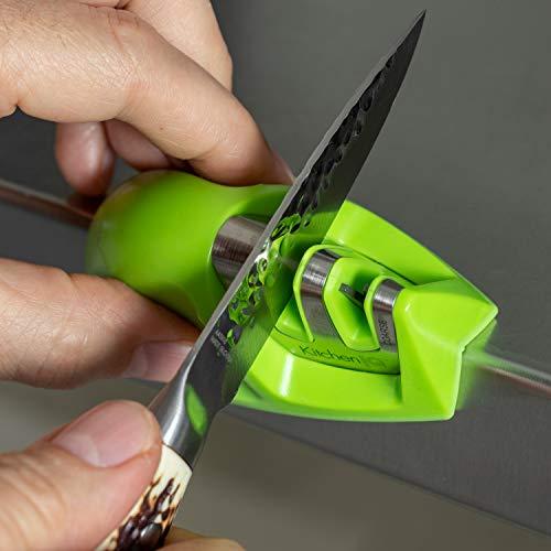 KitchenIQ EDGE GRIP 2-STAGE KNIFE, GREEN Kitchen Sharpener