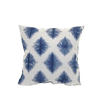 Brentwood Originals 851 Tie Dye Jacquard Toss Pillow, 18-Inch, Diamond