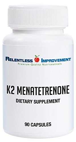 Relentless Improvement Vitamin K2 Mk4 Vegan Naturally-Derived No-Fillers Science-Based Dosing
