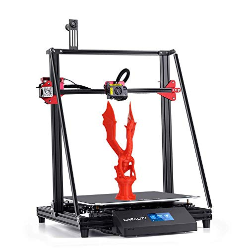 Creality CR 10 MAX 3D Printer 450 x 450 x 470 mm Large Build Volume with Stability Triangle Frame, Auto-Leveling, Resume Printing, Bondtech Extruder Dual Gears, Capricorn PTFE Tube
