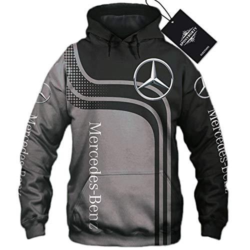xiaosu Männer Hoodies Jacke Zum Mercedes-Benz 3D Drucken Kapuzenpullover Pullover/Zip Sweatshirt-Fan Jersey Lose / D1 / S