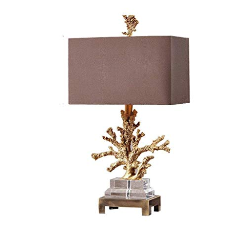 Allamp Norte de Europa Simples Habitación Creativo Moderno Coral Cristal Lámpara de Mesa de Noche Decorativo de Resina de la lámpara Europea de la Sala Americana Sala de Estudio Modelo Light Paño