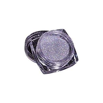 Rainbow Holographic Nail Powder Nail Powders Hologram Iridescent Nails Pigment Top Grade Rainbow Glitter Laser Powder Manicure Pigment Lase Powder Nail Glitter Chrome Pigments Decoratio  L