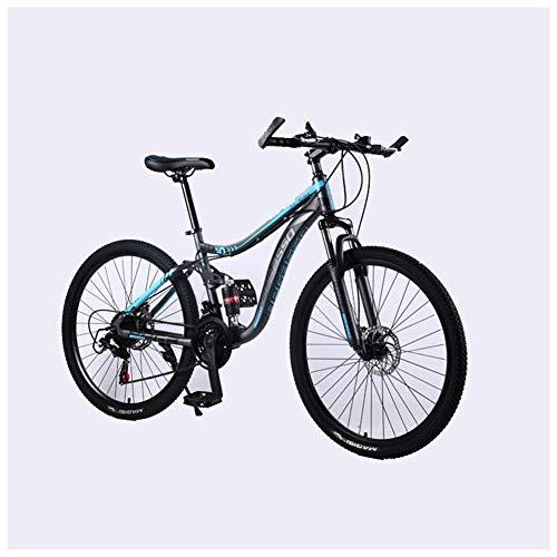 CENPEN Deportes al Aire Libre de la Bici de montaña 2130 Velocidades 26 Pulgadas de Doble Freno de Disco Suspensión Suspensión Completa Bicicletas Antideslizantes con Marco de Acero HighCarbon
