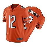 FGDK Allěn RǒBǐnsǒn Jersey, Jersey de fútbol Americano Personalizado de los Hombres, Uniforme de Campo Deportivo # 12, Camiseta de Estiramiento de Malla Orange-XL