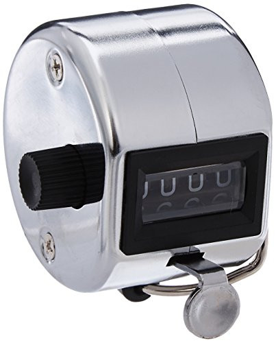 Sparco Tally Counter with Finger Ring, Silver (SPR24100)